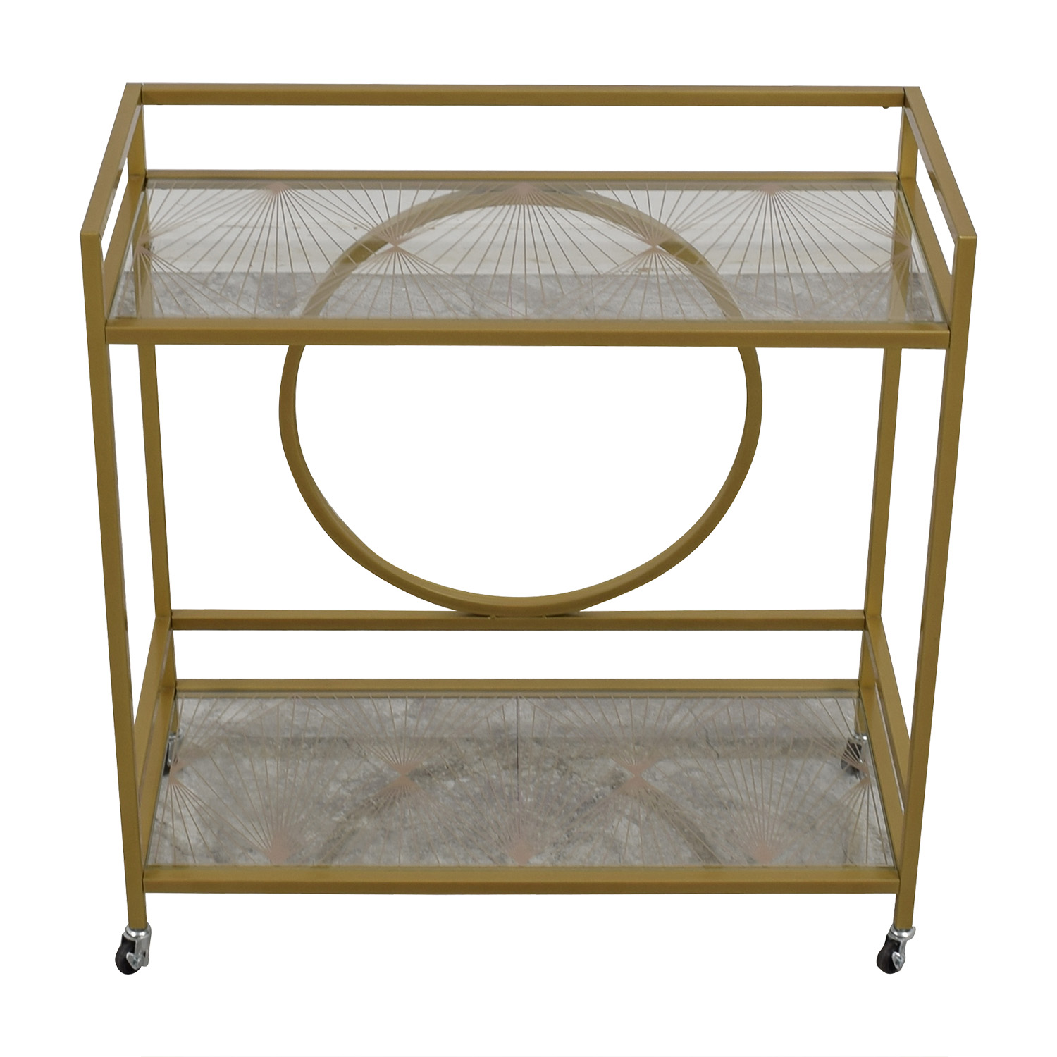 shop Cynmax Sauder International Lux Bar Cart Cynmax Utility Tables