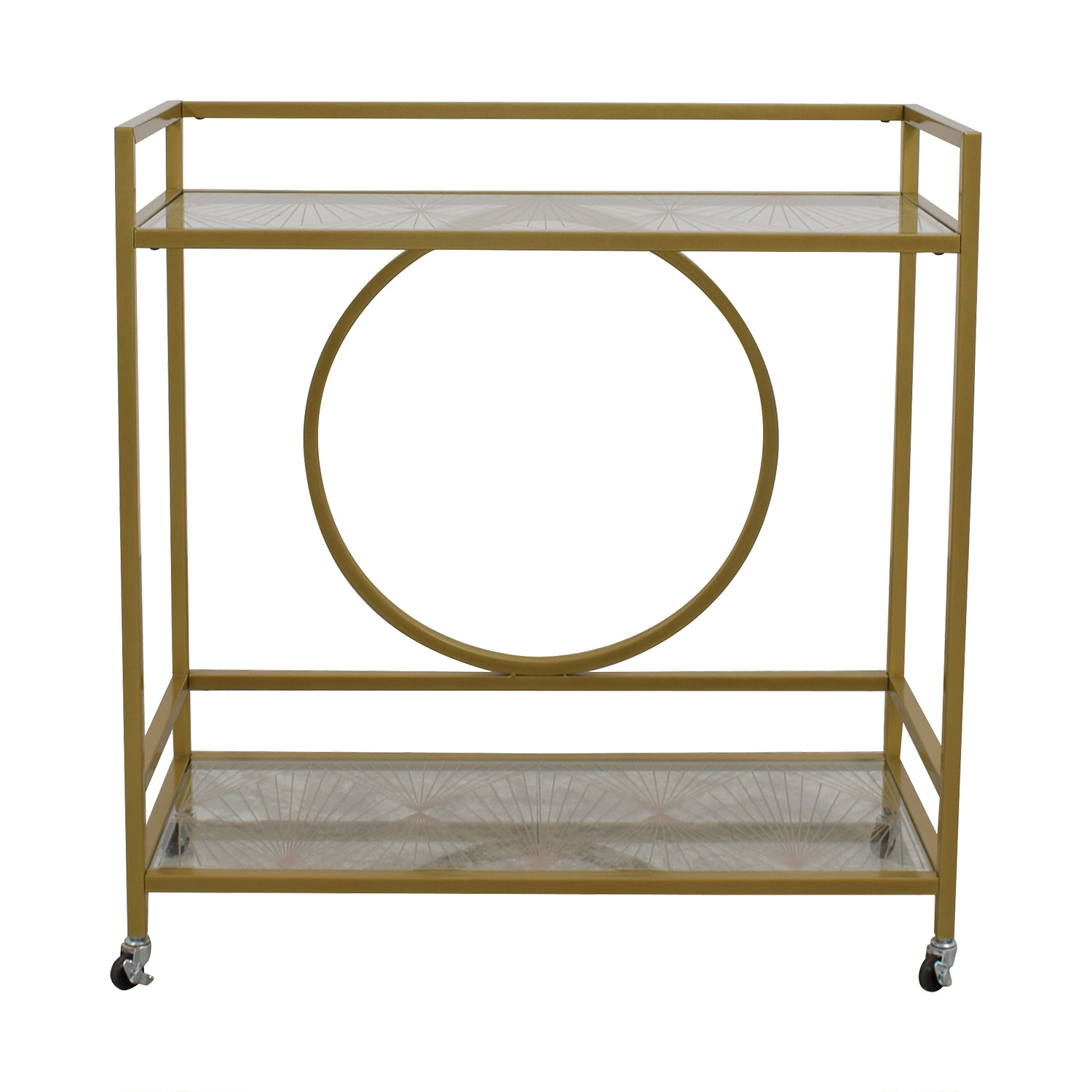 Cynmax Cynmax Sauder International Lux Bar Cart for sale