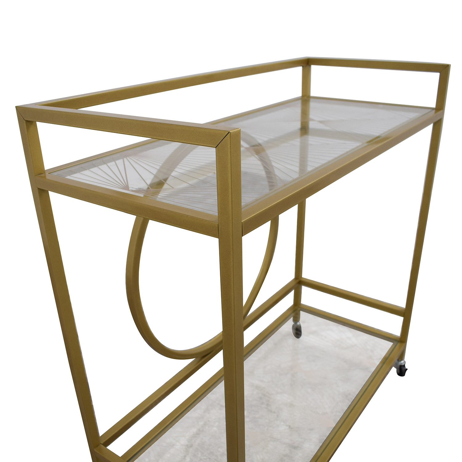 Cynmax Cynmax Sauder International Lux Bar Cart