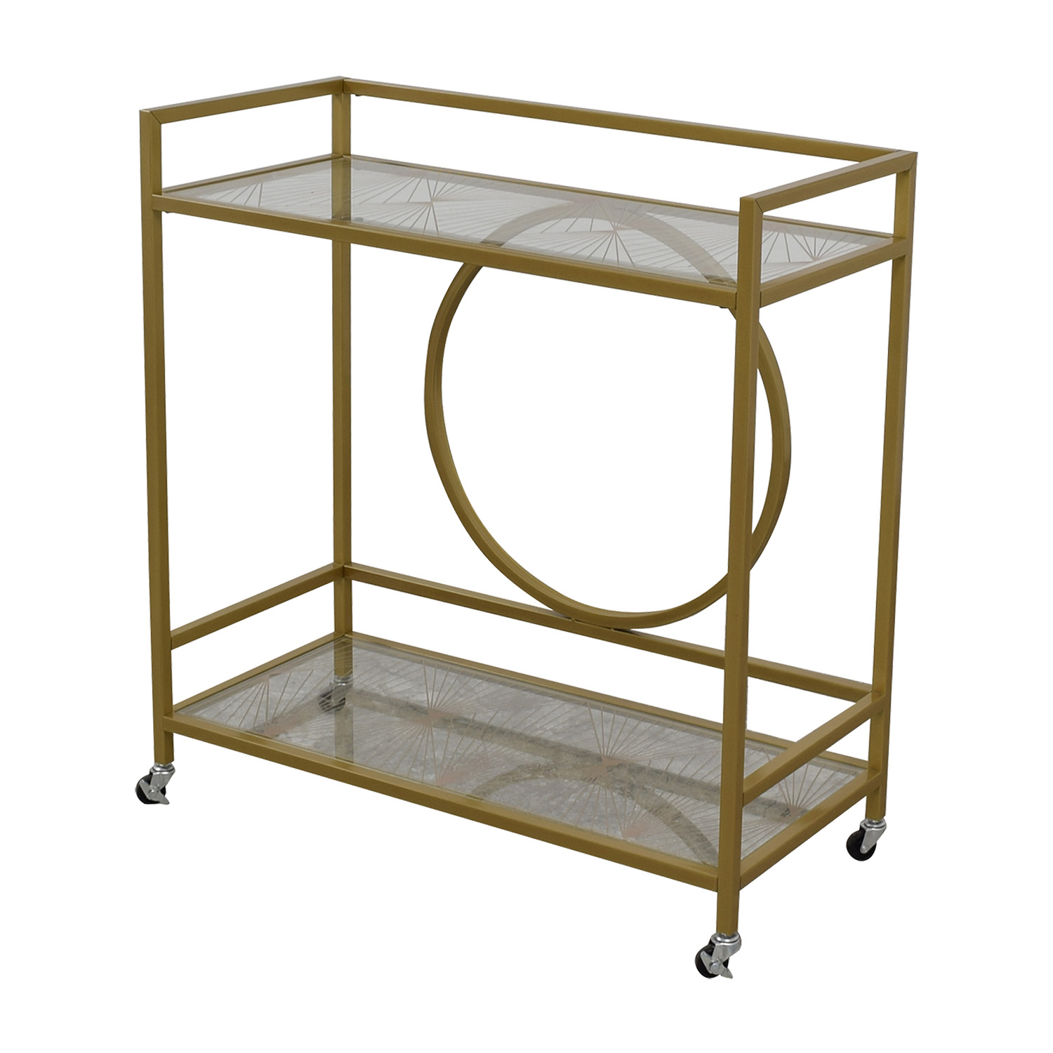 Cynmax Cynmax Sauder International Lux Bar Cart Gold