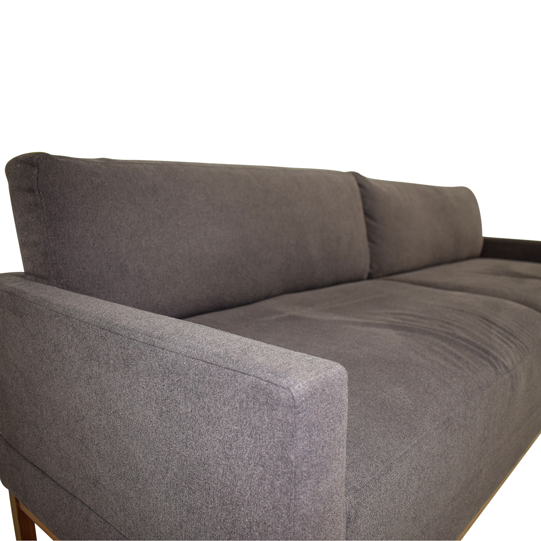 ... Buy Blue Dot Diplomat Brown Two Cushion Sleeper Sofa Blue Dot Classic  Sofas ...