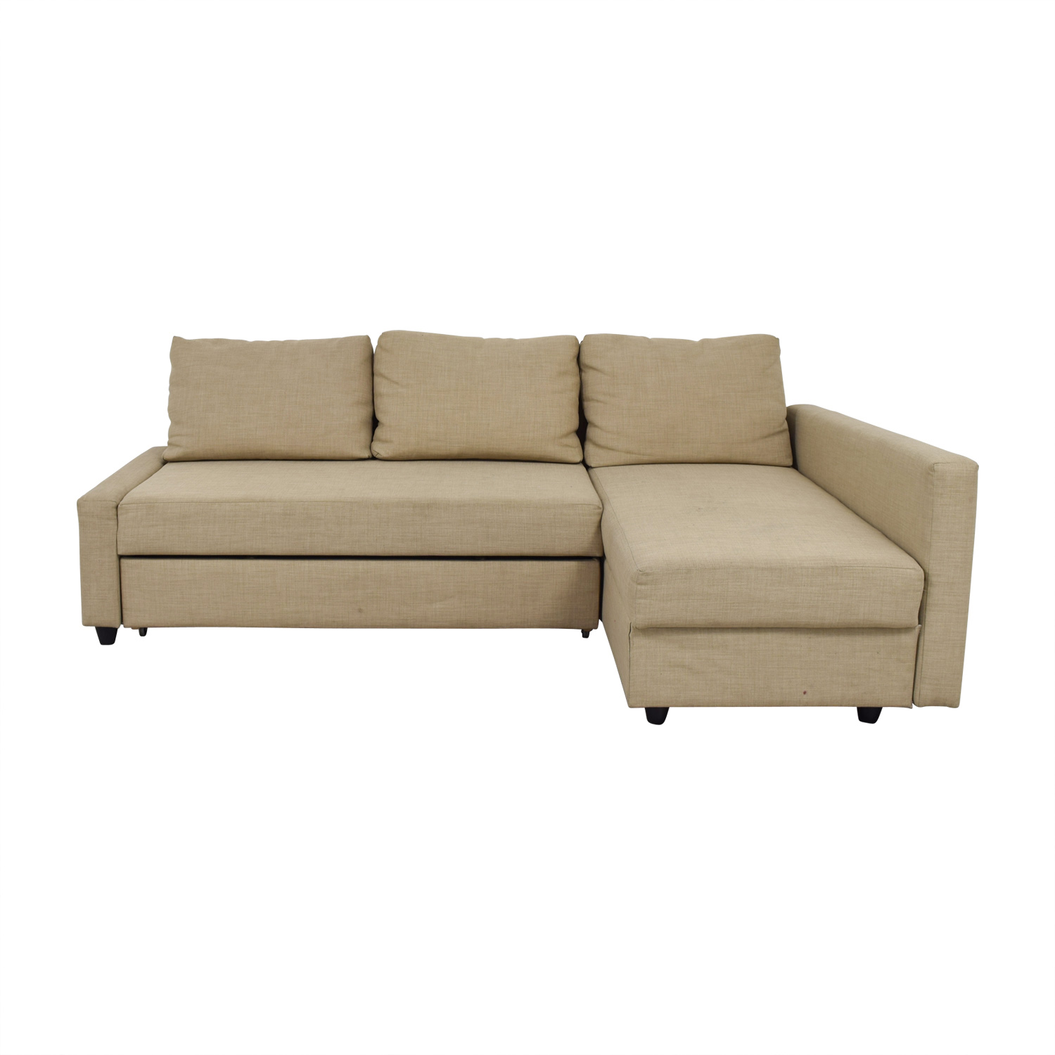 low priced 48d81 518d1 36% OFF - IKEA IKEA Friheten Beige Sleeper Sectional / Sofas