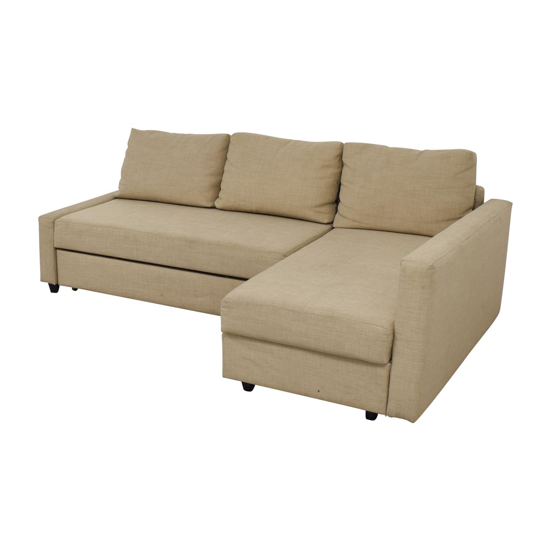 36 Off Ikea Ikea Friheten Beige Sleeper Sectional Sofas