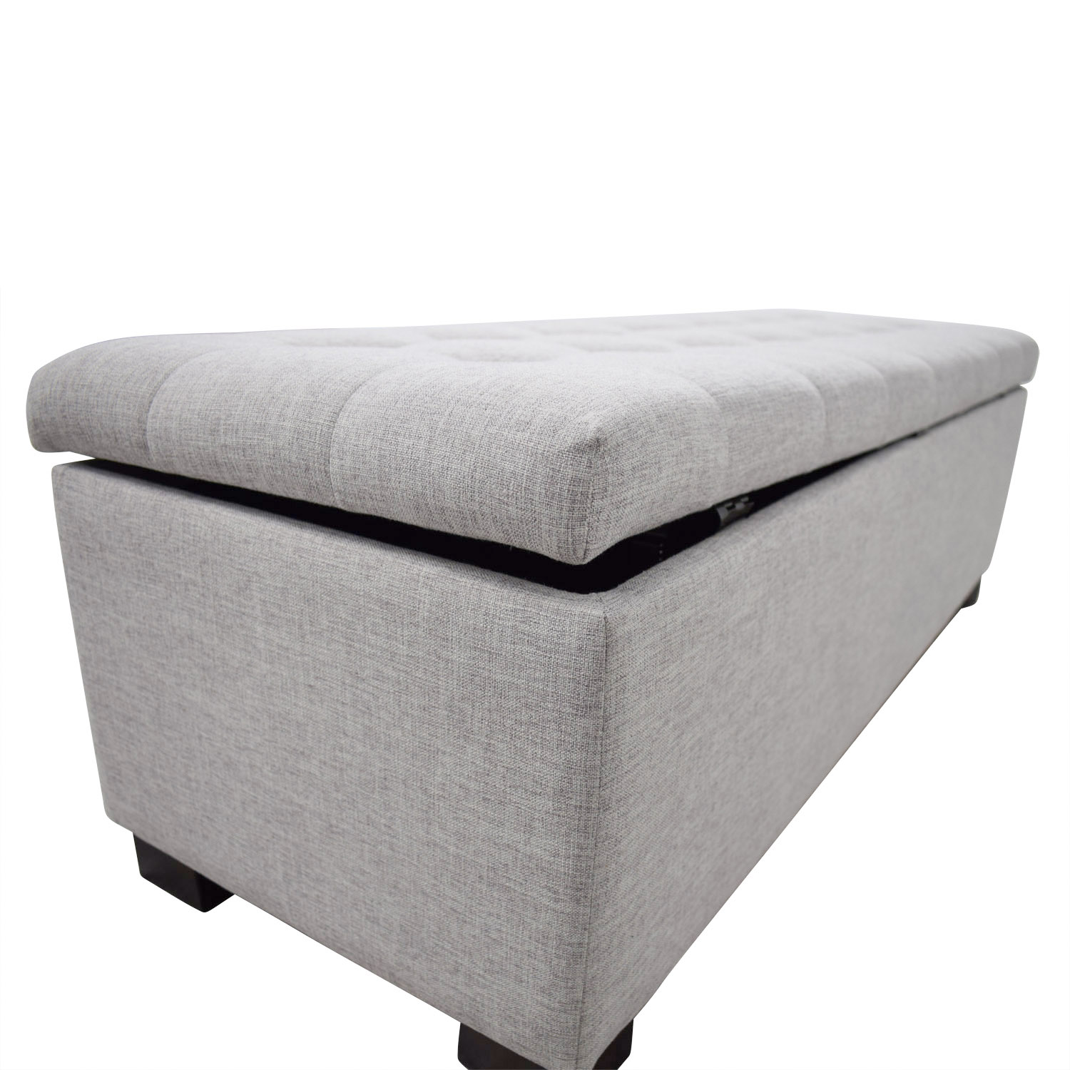 81 Off Wayfair Wayfair Grey Tufted Upholstered Storage