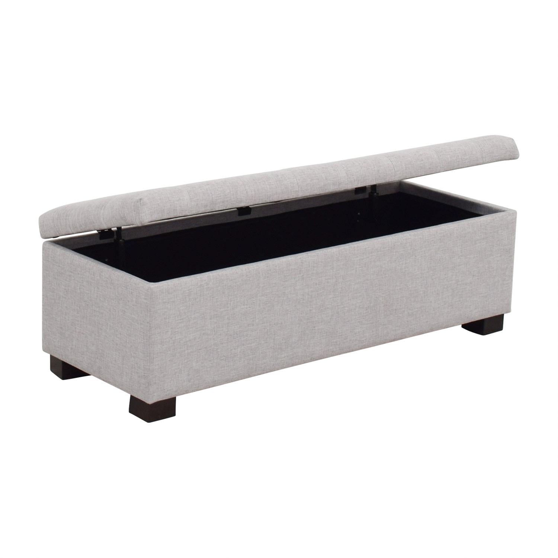 81 Off Wayfair Wayfair Grey Tufted Upholstered Storage