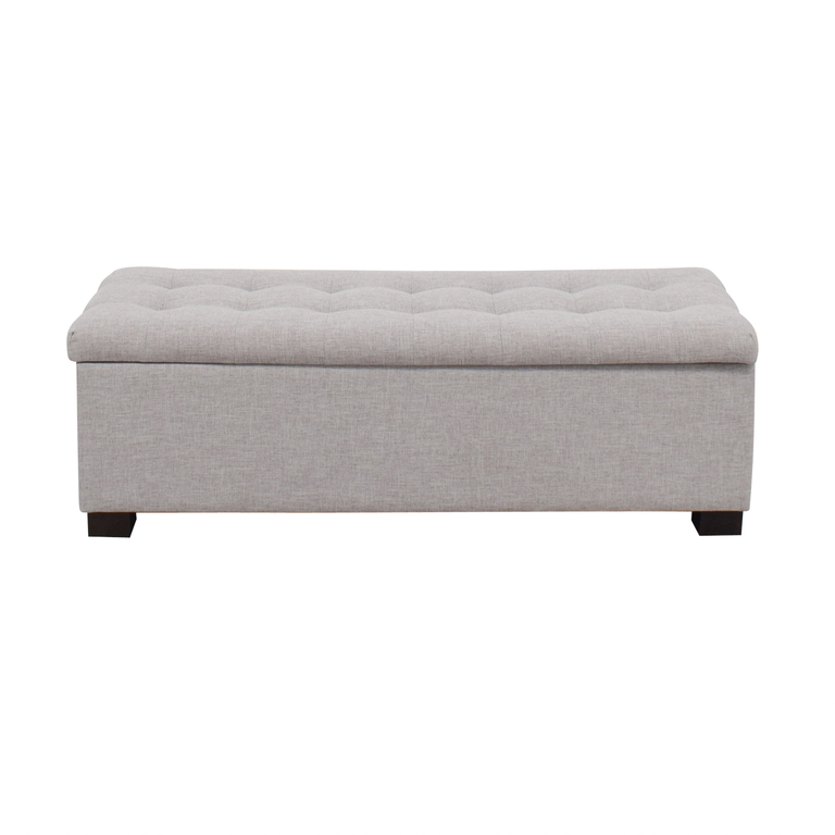 Wayfair Wayfair Grey Tufted Upholstered Storage Bench for sale