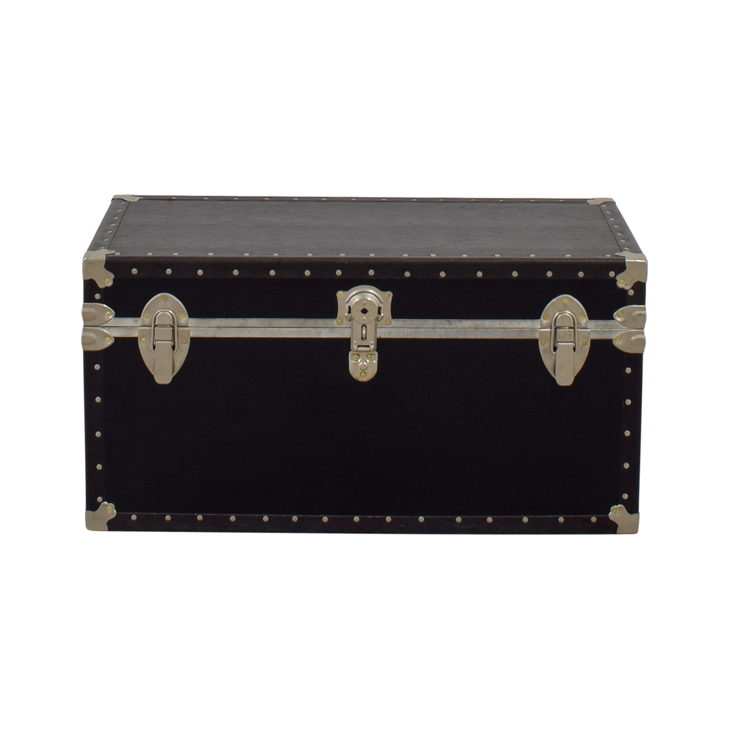 Black & Metal Trunk on sale