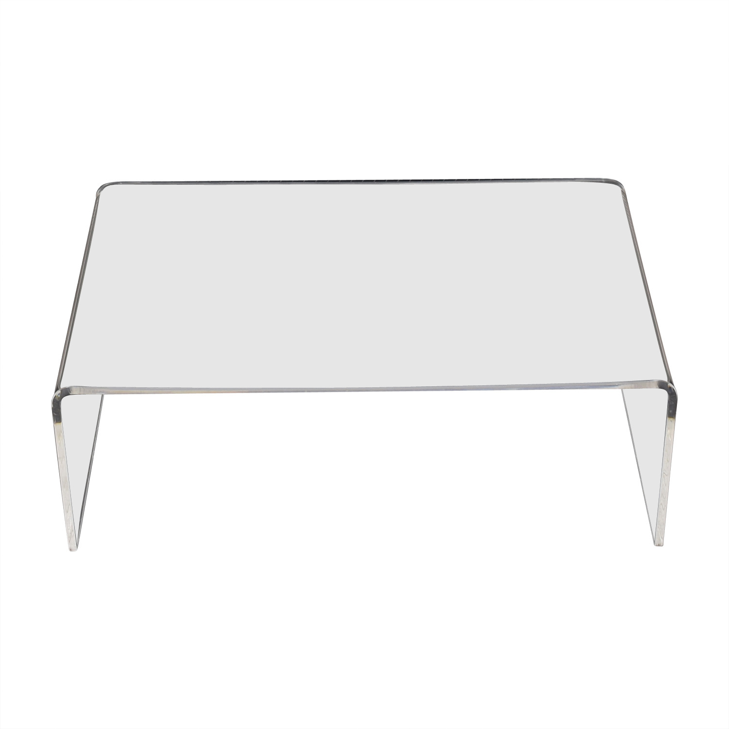 CB2 Acrylic Ghost Coffee Table / Coffee Tables