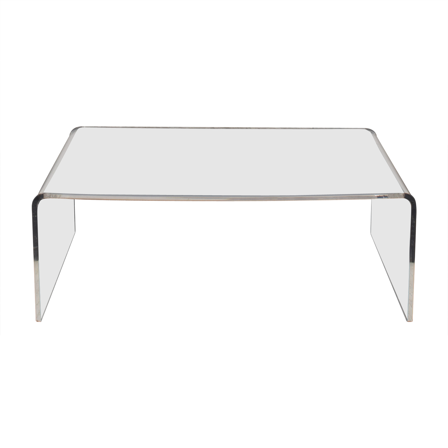 CB2 Acrylic Ghost Coffee Table / Tables