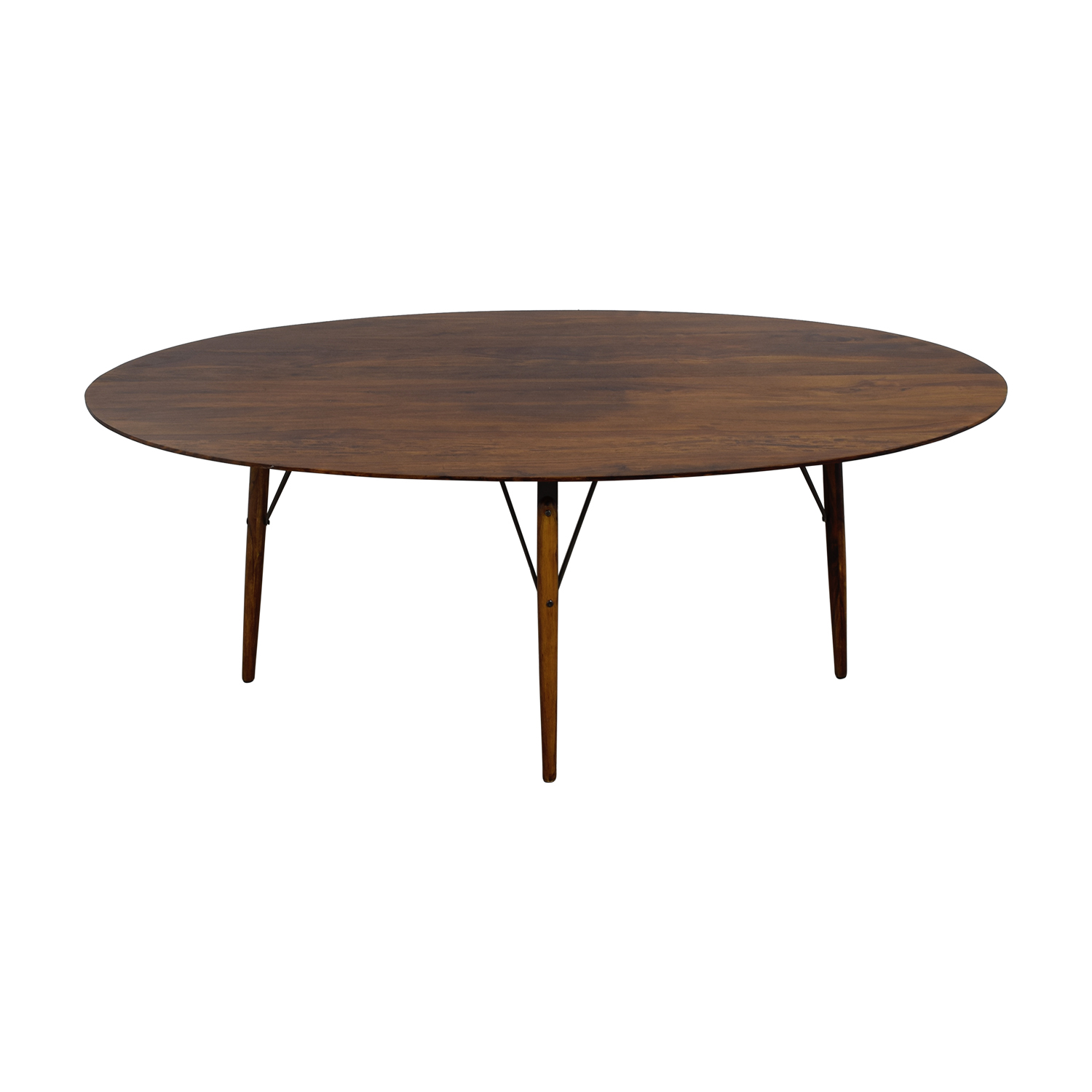 Swoon Editions Swoon Editions Rosewood Oval Wood Dining Table On