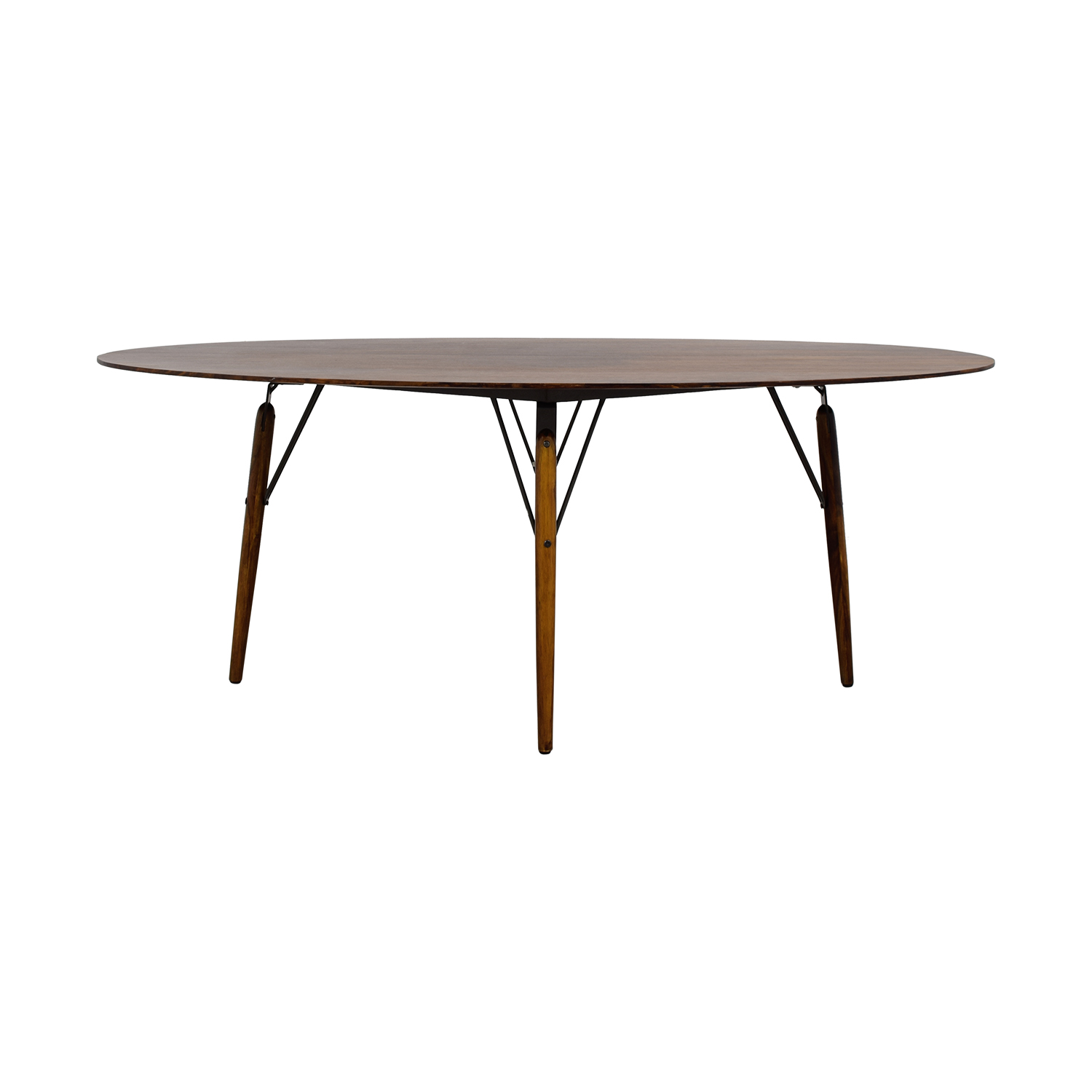 Swoon Editions Swoon Editions Rosewood Oval Wood Dining Table