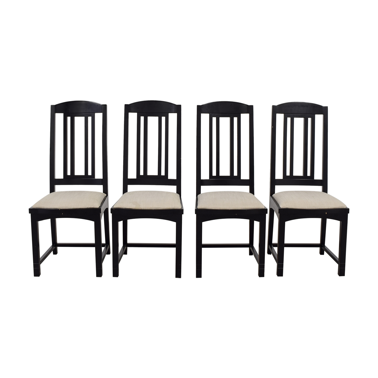 buy PACE Collection Beige Upholstered and Black Dining Chairs PACE Collection