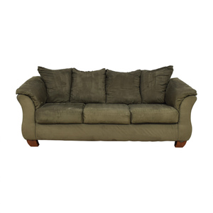 Ashley Furniture Ashley Furniture Forest Green Three-Cushion Couch discount