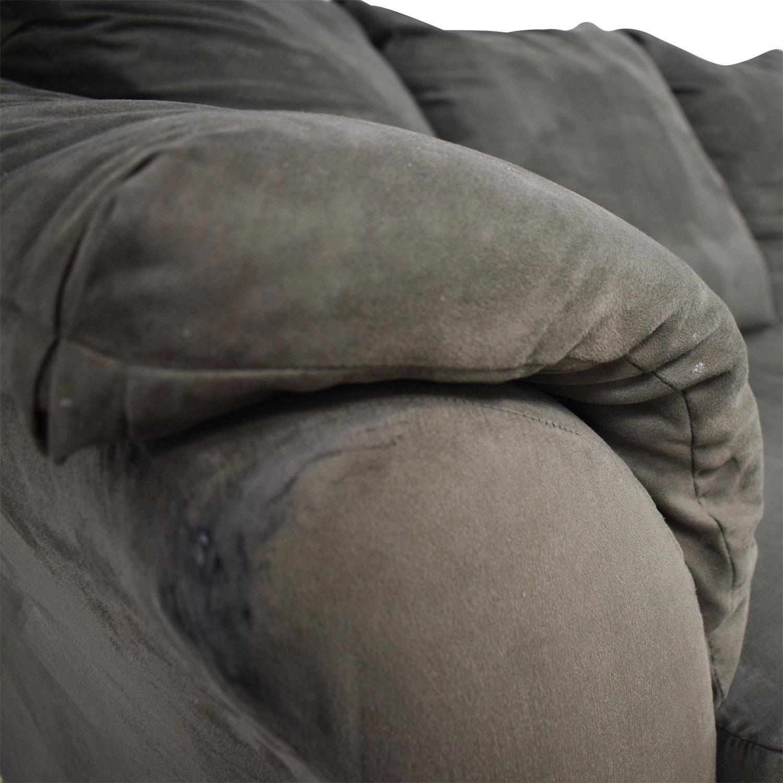 Ashley Furniture Ashley Furniture Forest Green Three-Cushion Couch dimensions