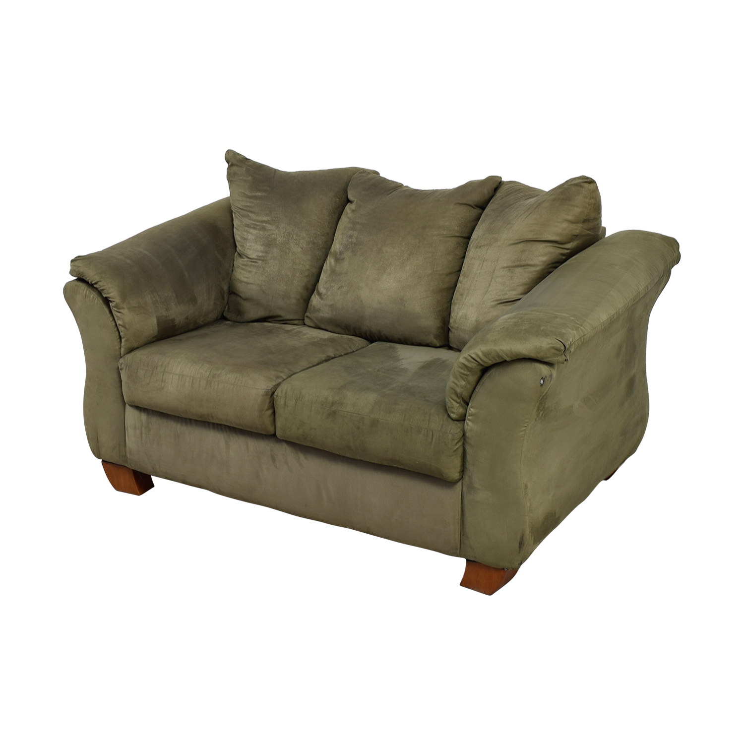 Forest Green Two-Cushion Loveseat