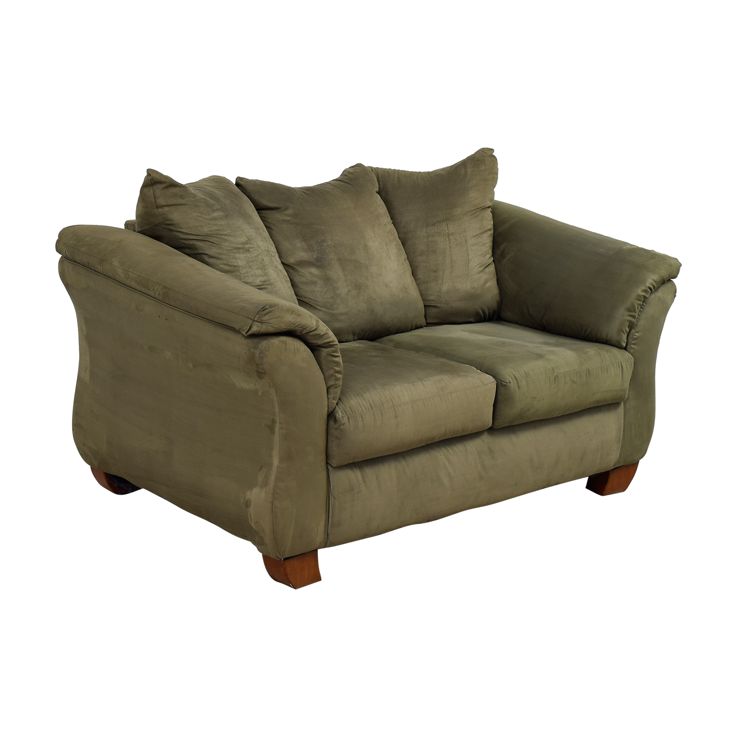 buy Forest Green Two-Cushion Loveseat