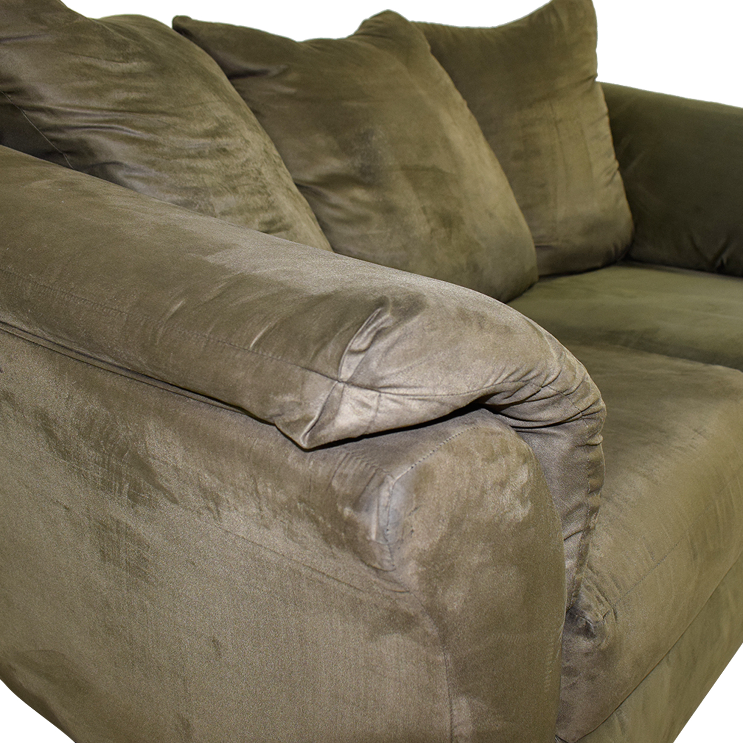 buy Forest Green Two-Cushion Loveseat  Sofas