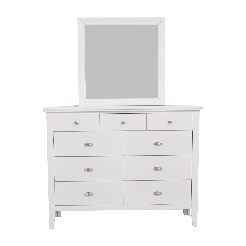 Ashley Furniture White Nine Drawer Dresser With Mirror