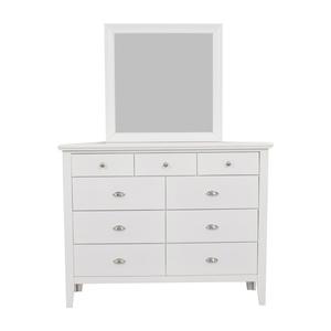 Ashley Furniture White Nine-Drawer Dresser with Mirror Ashley Furniture
