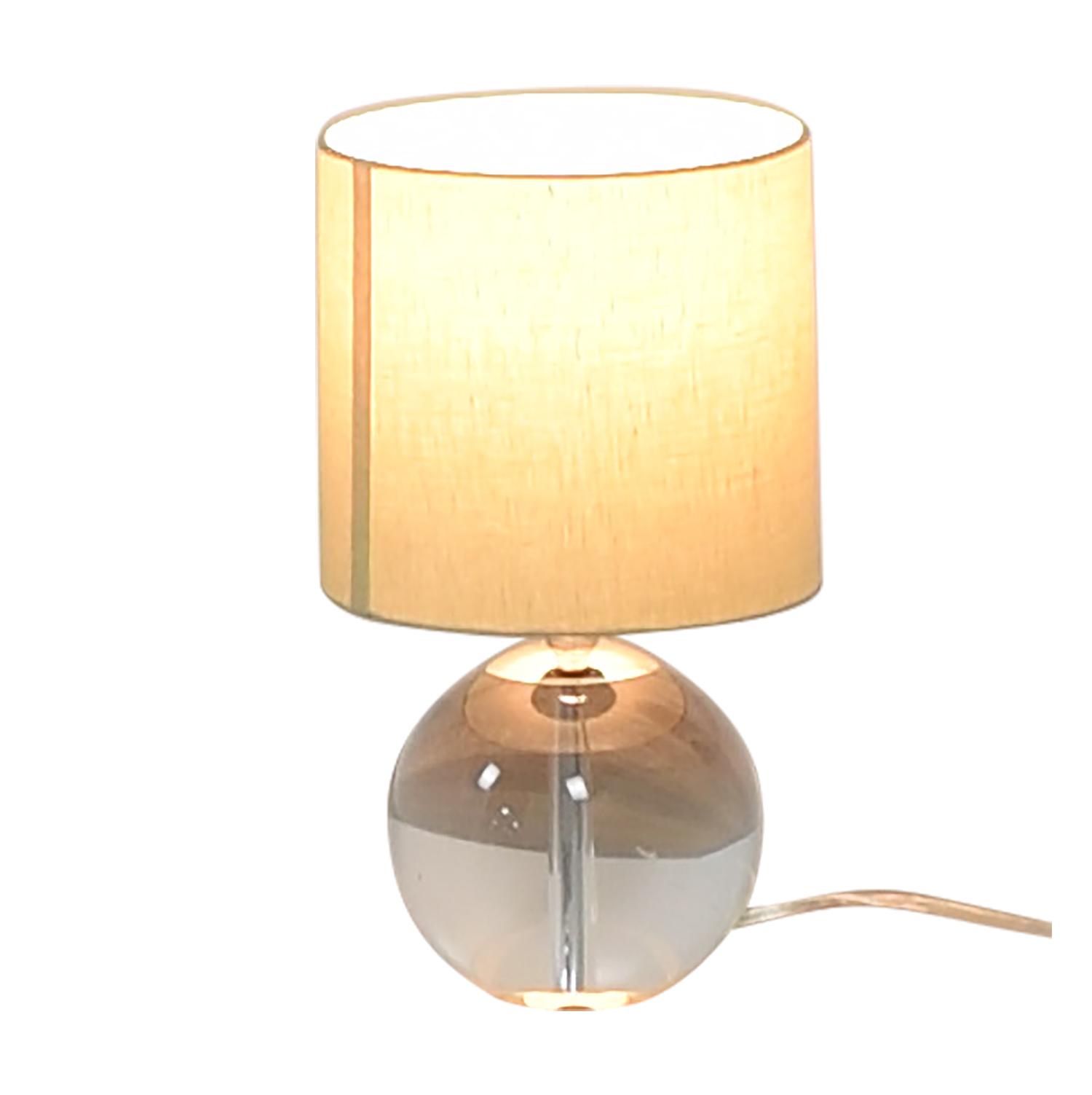 Crate & Barrel Crate & Barrel Round Glass Lamp discount