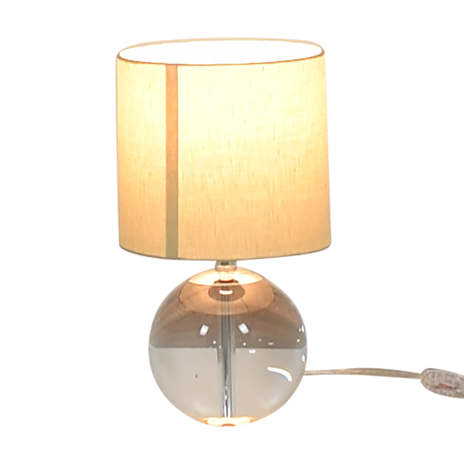 Crate & Barrel Crate & Barrel Round Glass Lamp used