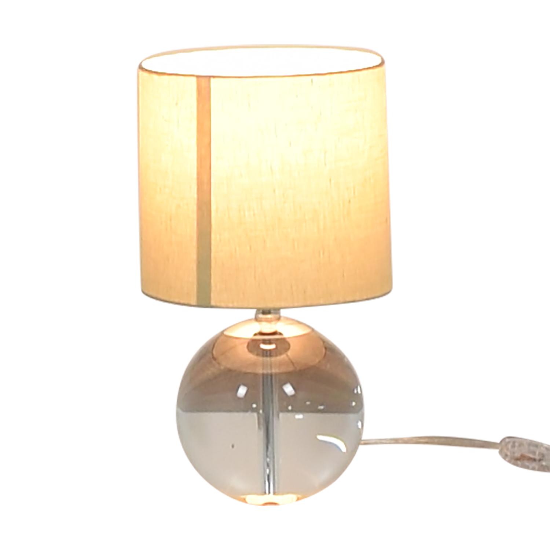buy Crate & Barrel Round Glass Lamp Crate & Barrel Lamps
