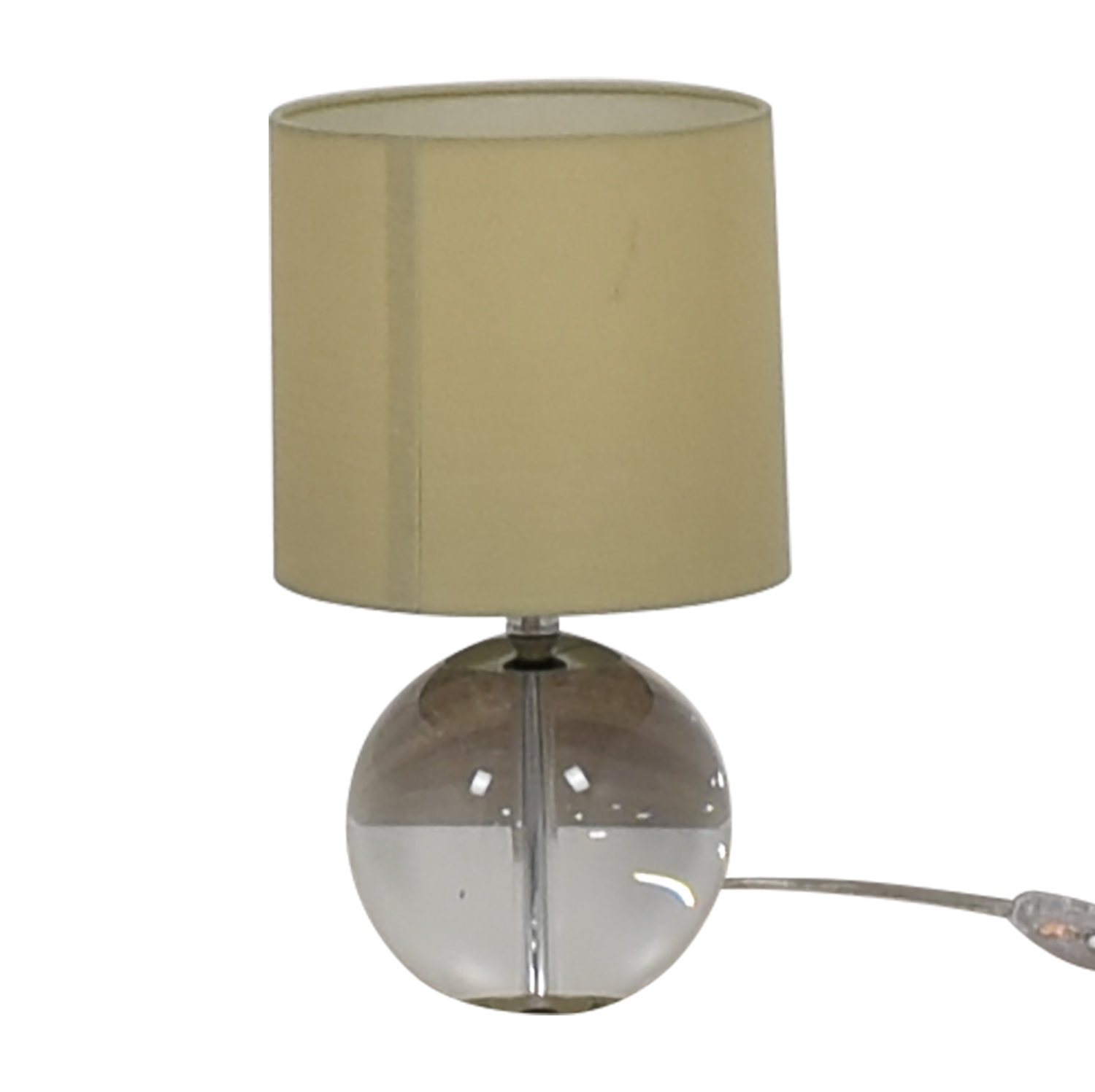Crate & Barrel Crate & Barrel Round Glass Lamp second hand