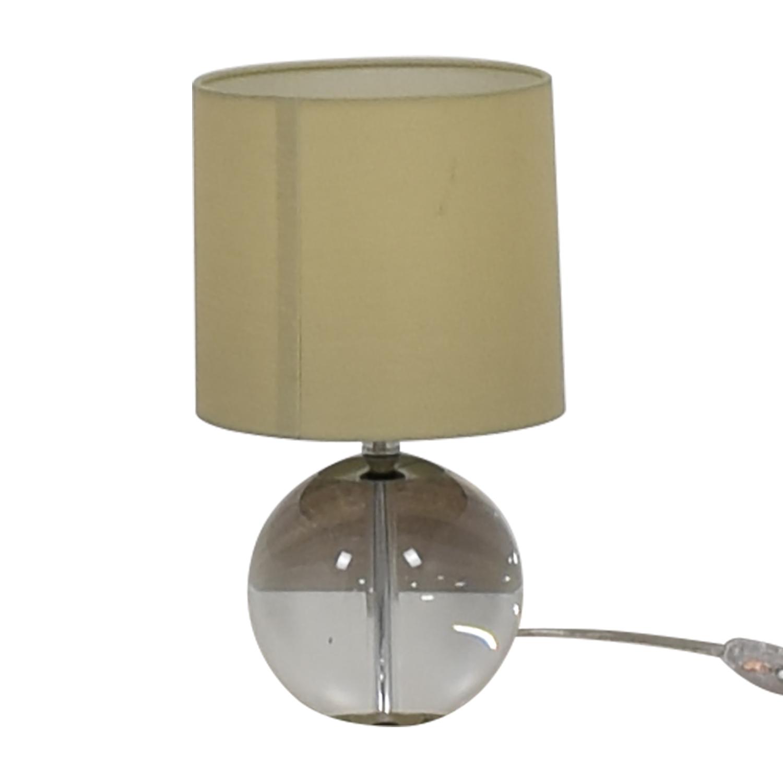 Crate & Barrel Crate & Barrel Round Glass Lamp Beige