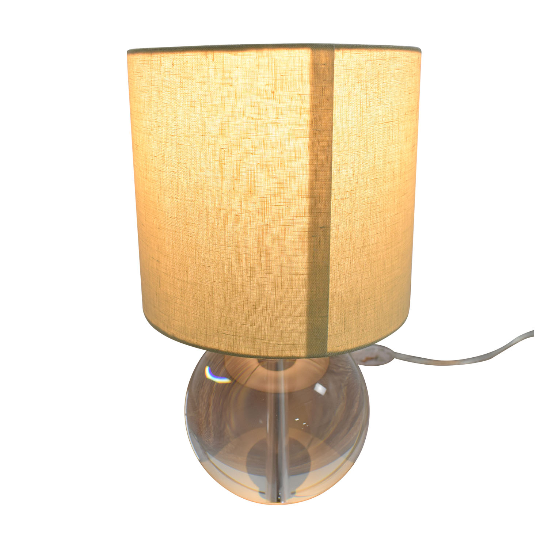 shop Crate & Barrel Round Glass Lamp Crate & Barrel Decor