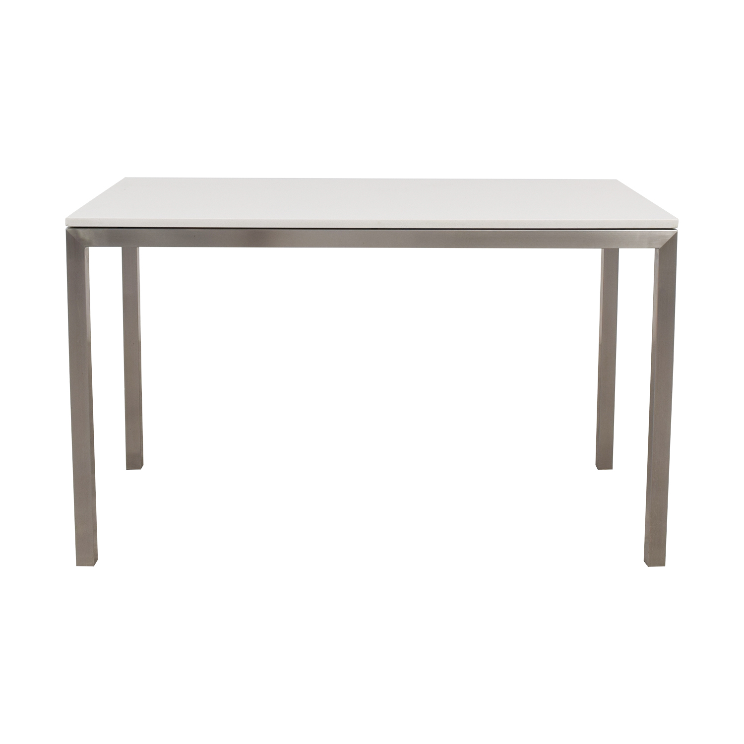 Room & Board Portica White Marble & Metal Table / Tables