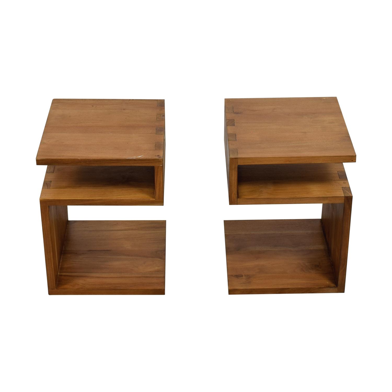 Crate & Barrel Crate & Barrel Entu Side Tables on sale