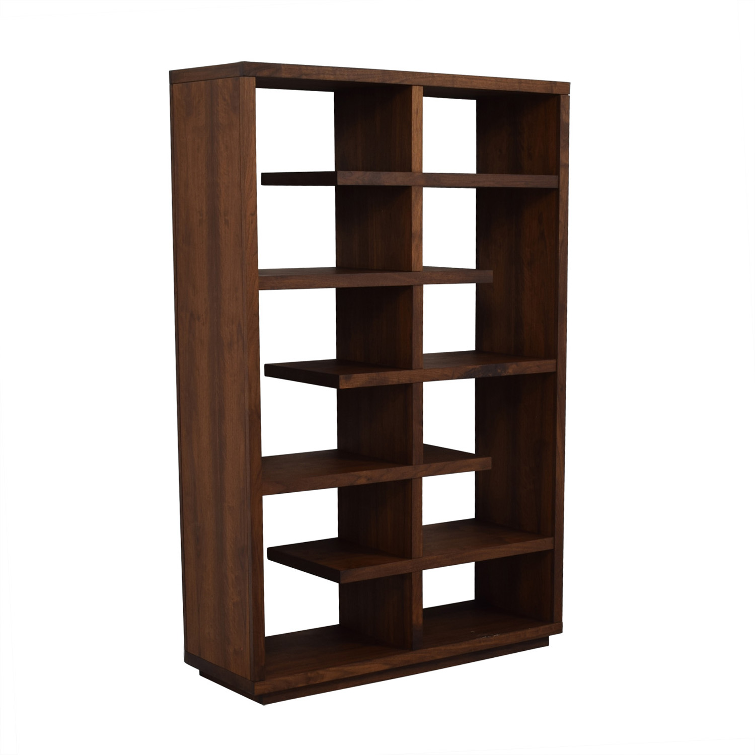 Crate & Barrel Elevate Walnut Bookcase Storage