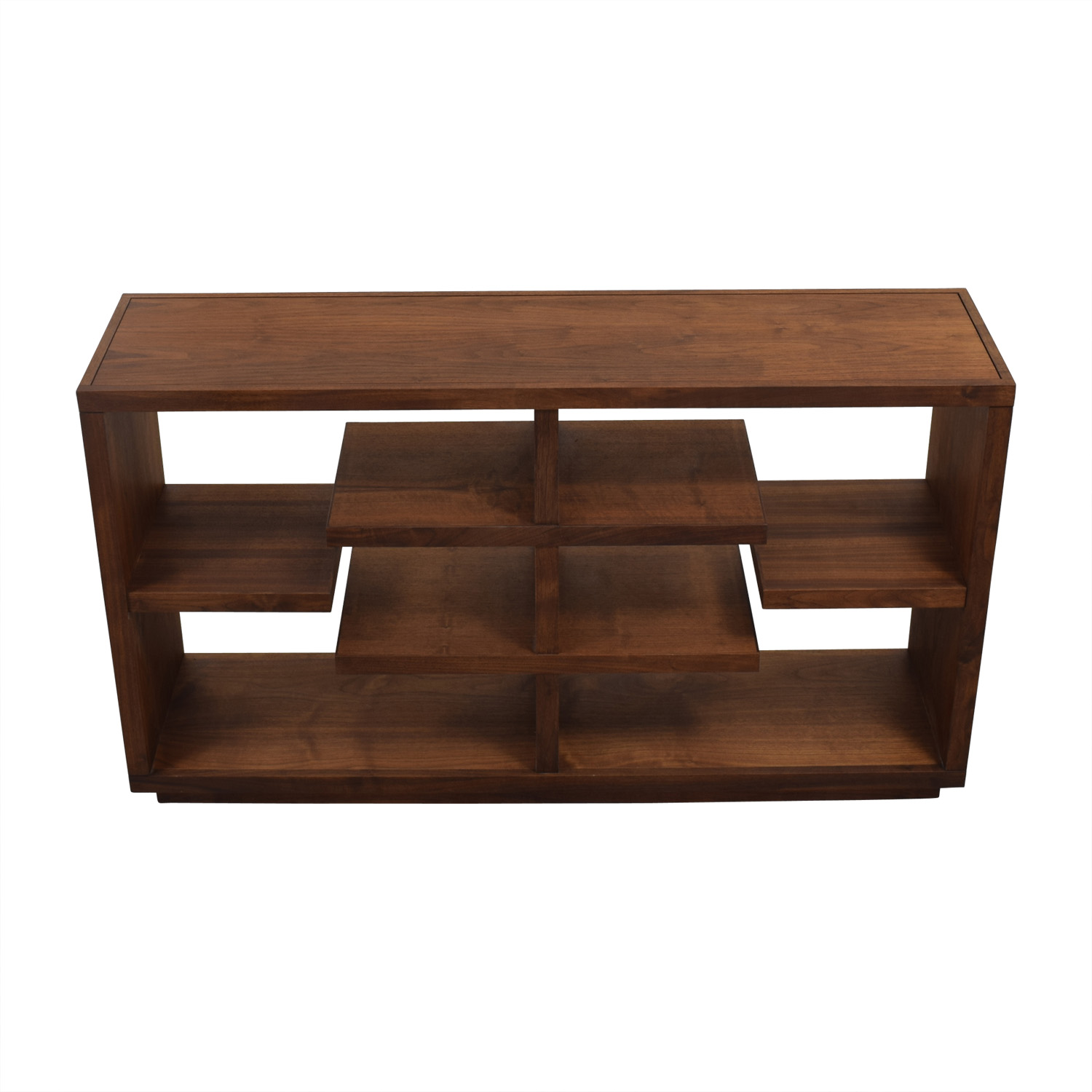 Crate & Barrel Crate & Barrel Elevate Walnut Bookcase Dark Brown