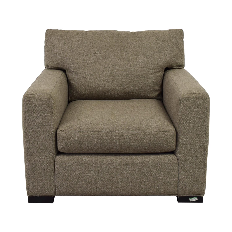 "Crate & Barrel Crate & Barrel Axis II 40"" Grey Chair nyc"