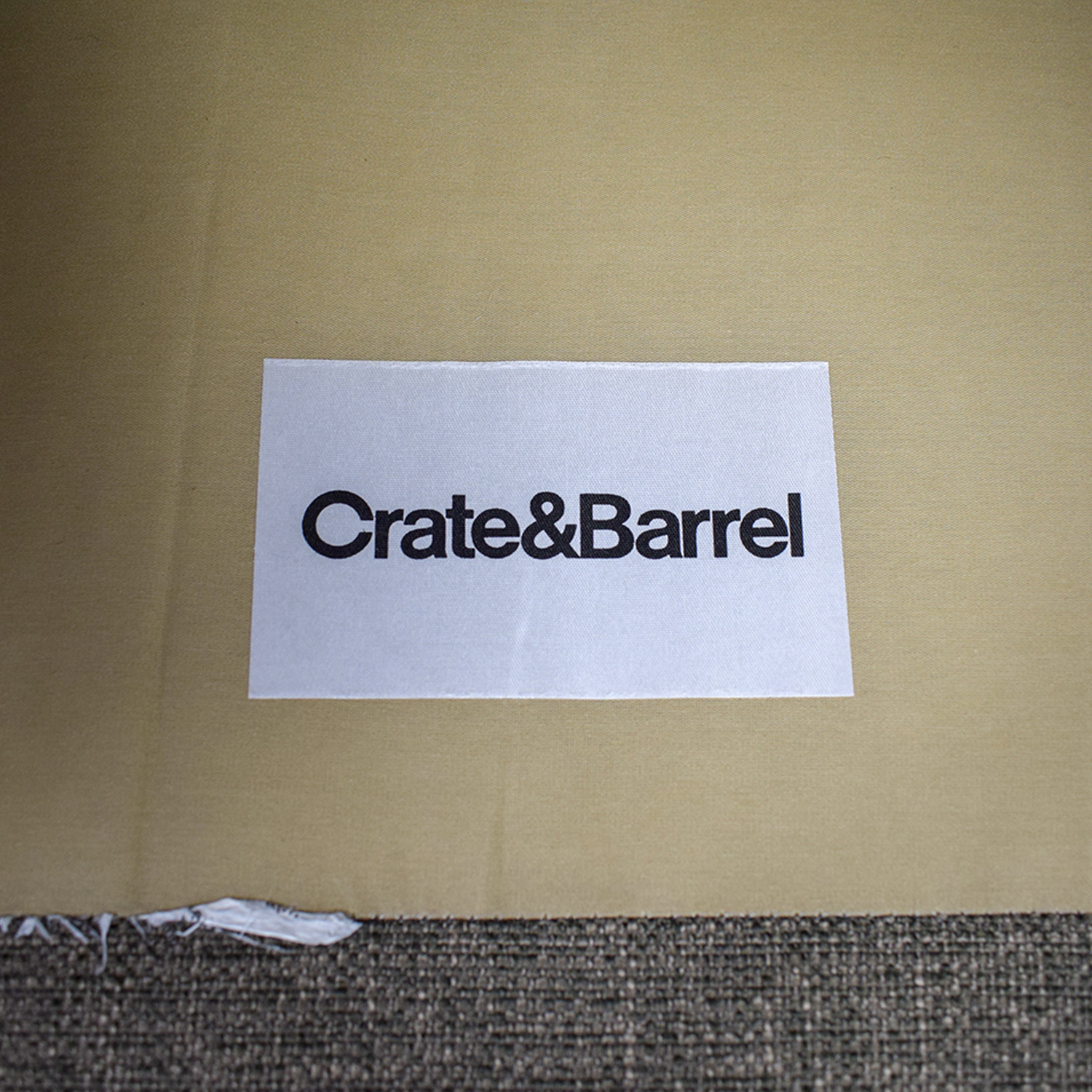 "Crate & Barrel Crate & Barrel Axis II 40"" Grey Chair second hand"