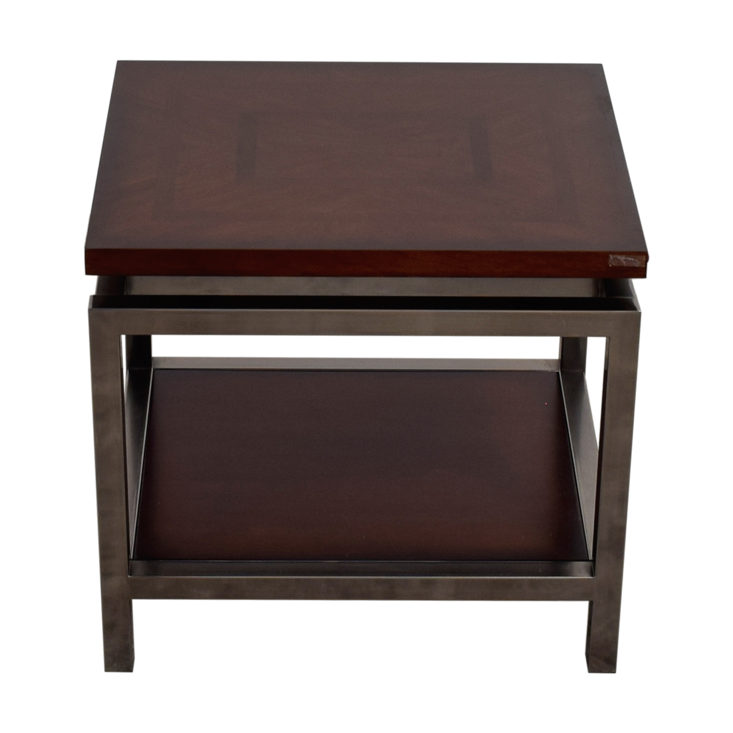 Raymour & Flanagan Wood and Chrome Side table sale