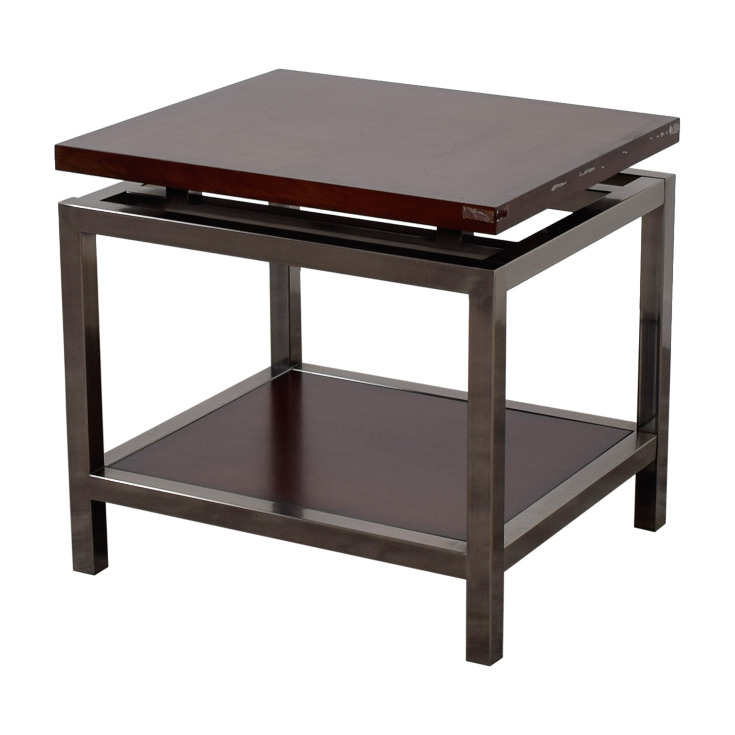 Raymour & Flanagan Raymour & Flanagan Wood and Chrome Side table coupon