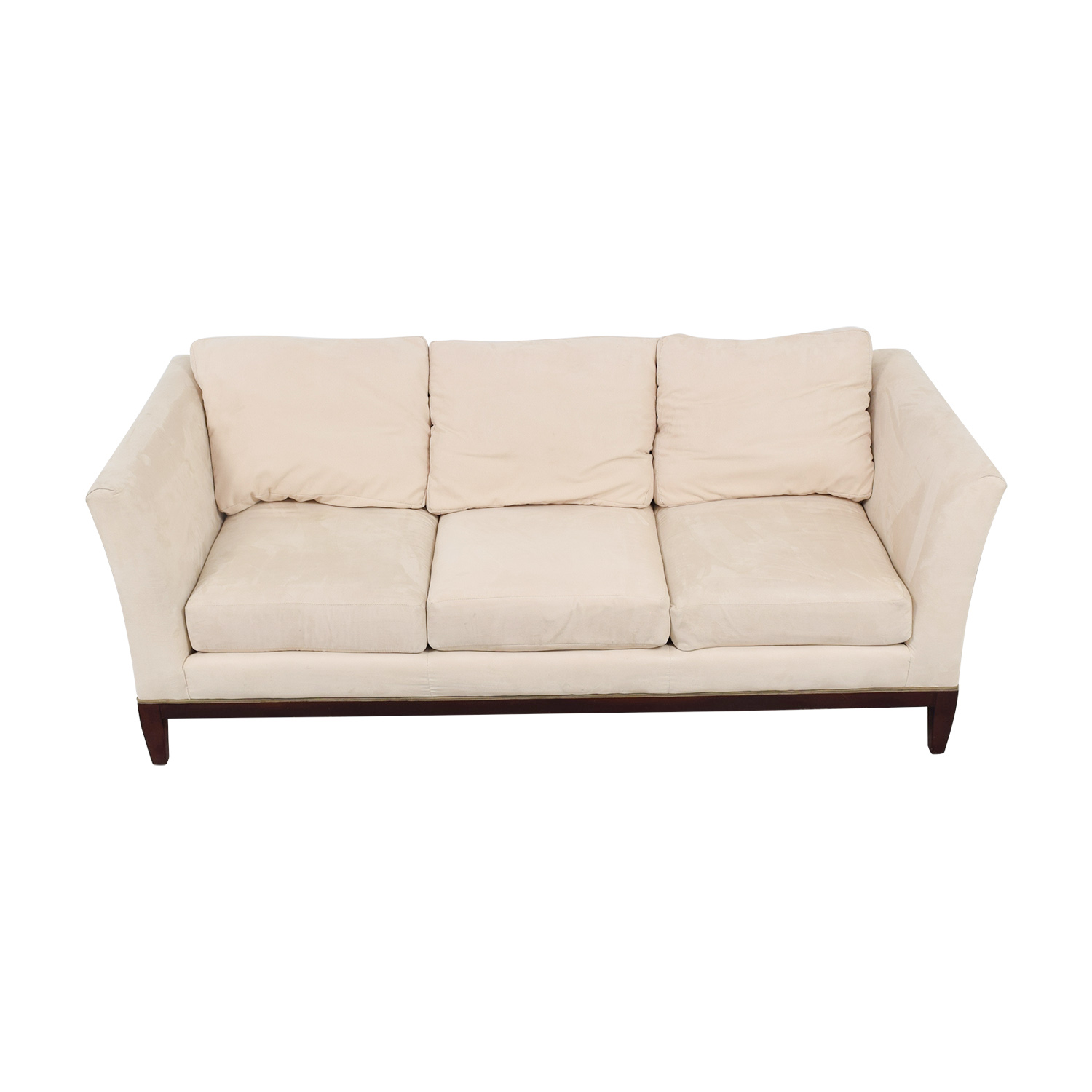 Woodmark Woodmark White Three-Cushion Sofa second hand