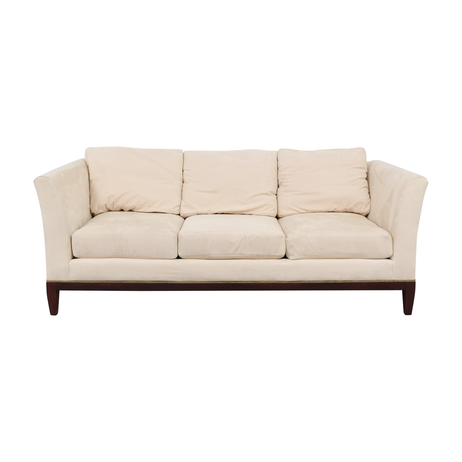 Woodmark Woodmark White Three-Cushion Sofa used
