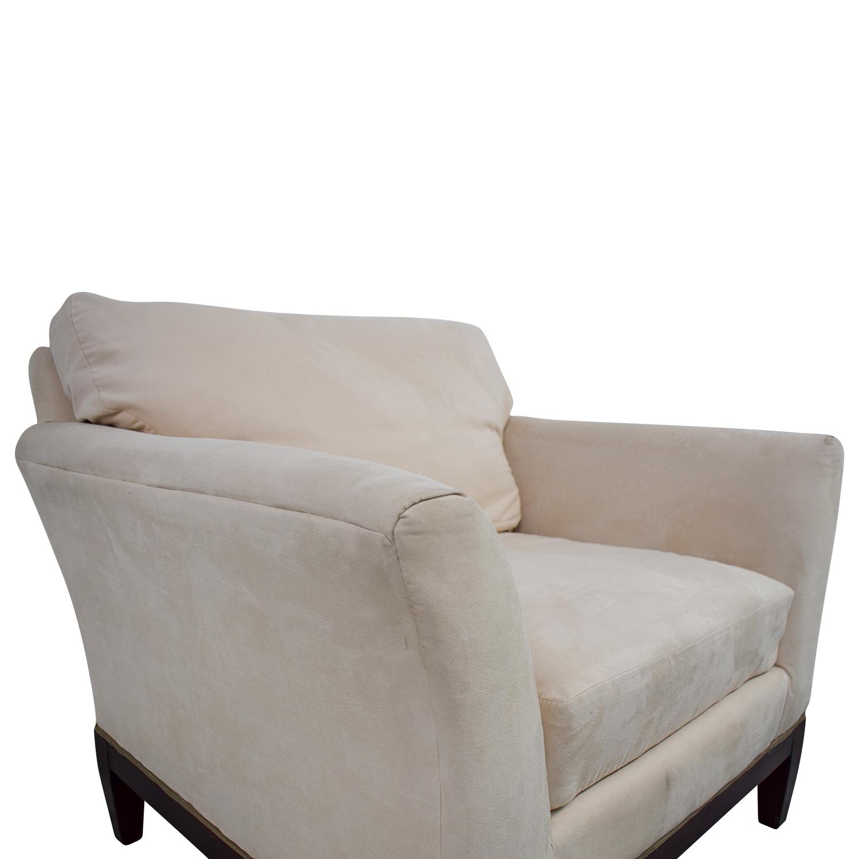 ... Woodmark Woodmark White Accent Chair Chairs ...