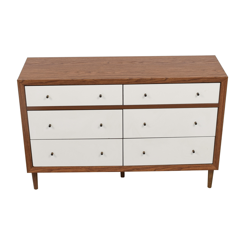Wayfair Wayfair White & Wood Six-Drawer Dresser discount