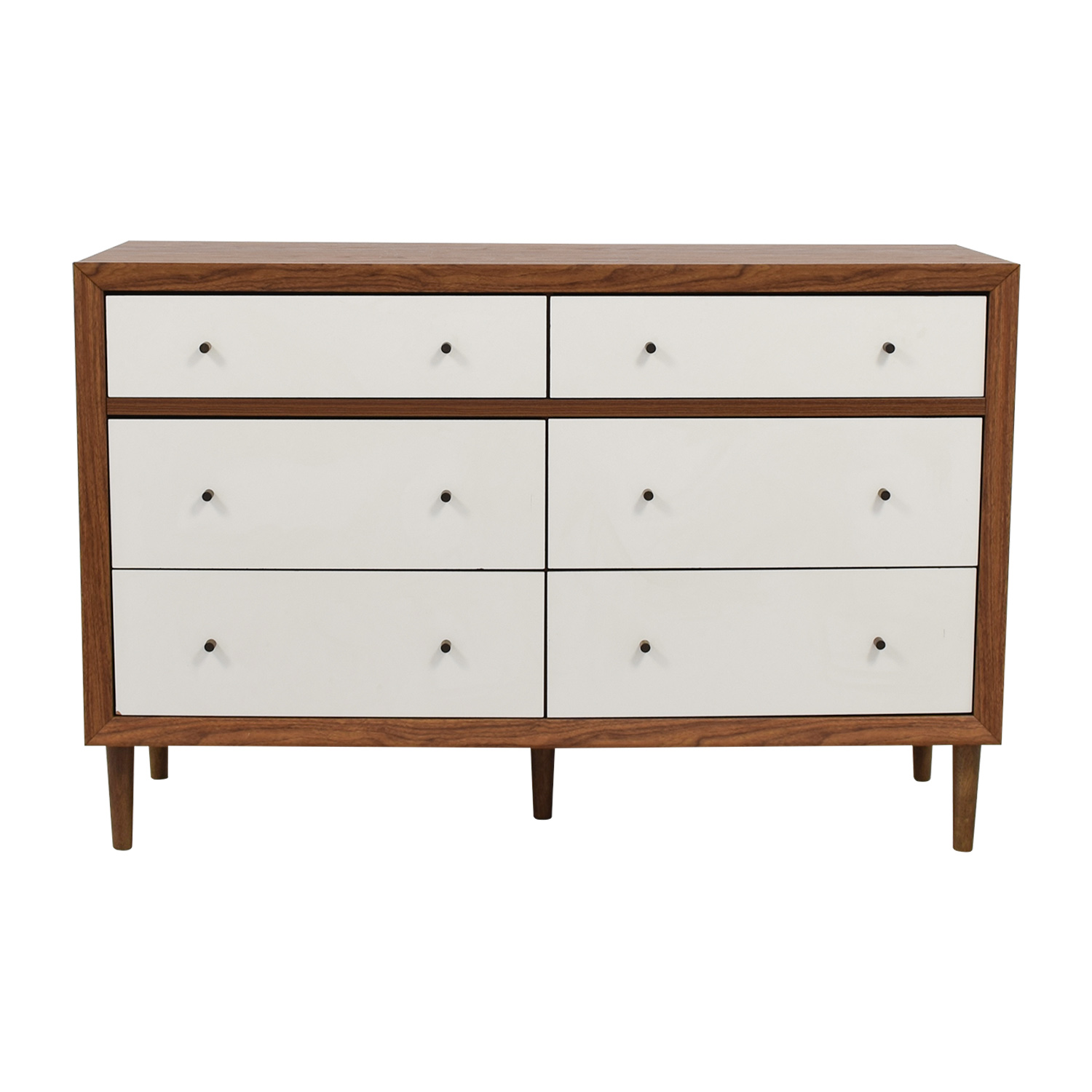buy Wayfair White & Wood Six-Drawer Dresser Wayfair Tables