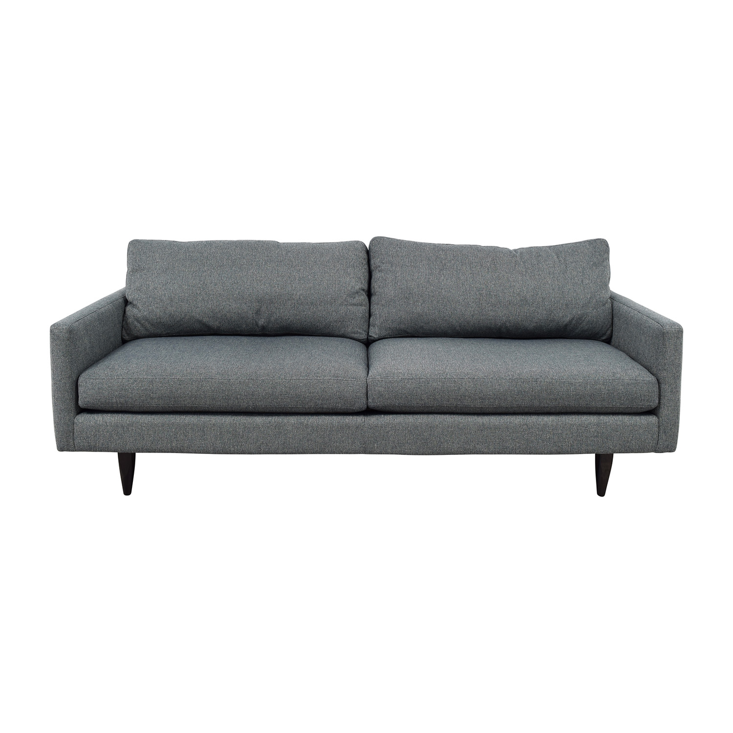 Room & Board Room & Board Blue Grey Two-Cushion Sofa Classic Sofas
