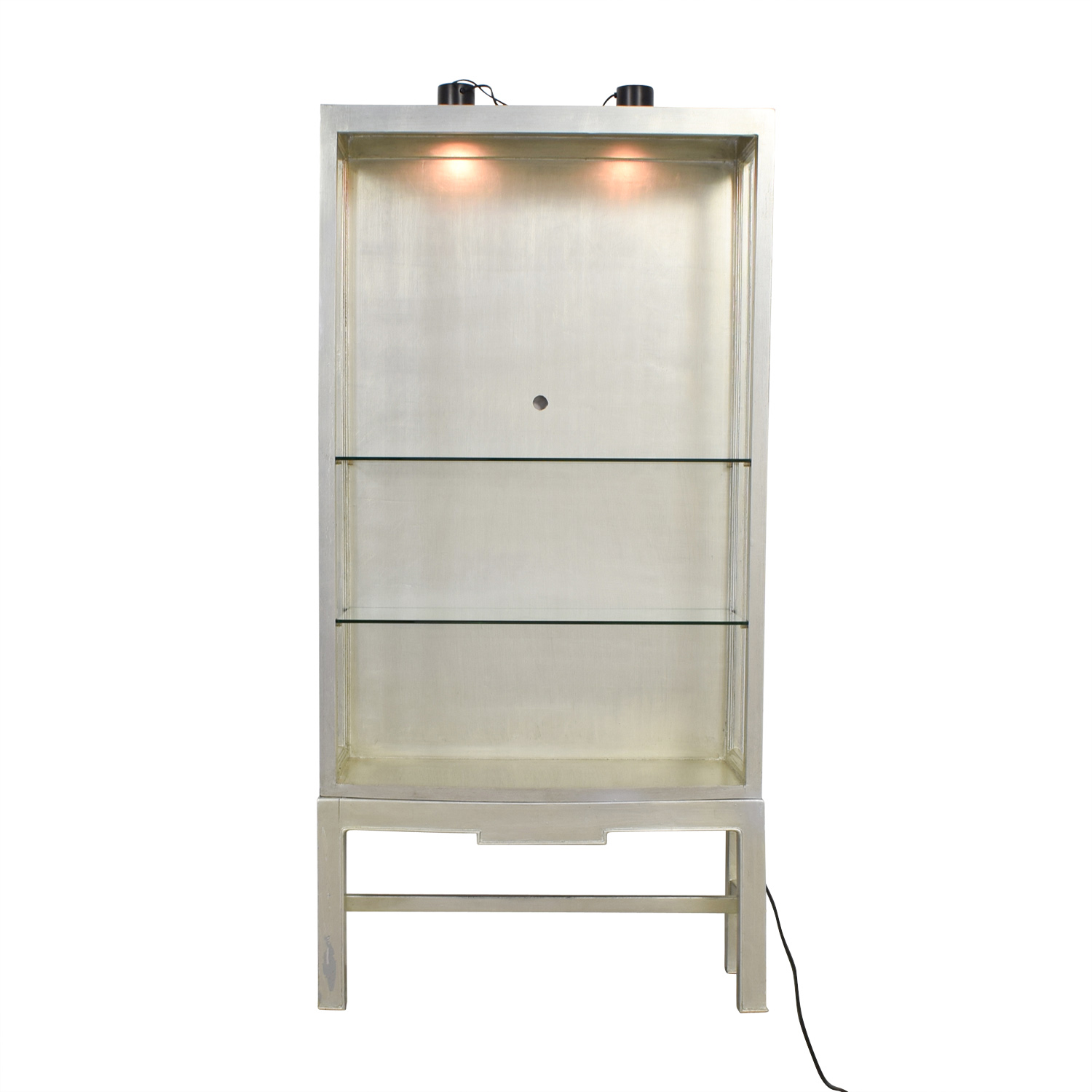 Horchow Horchow Silver and Glass Shelving Unit with Lights on sale
