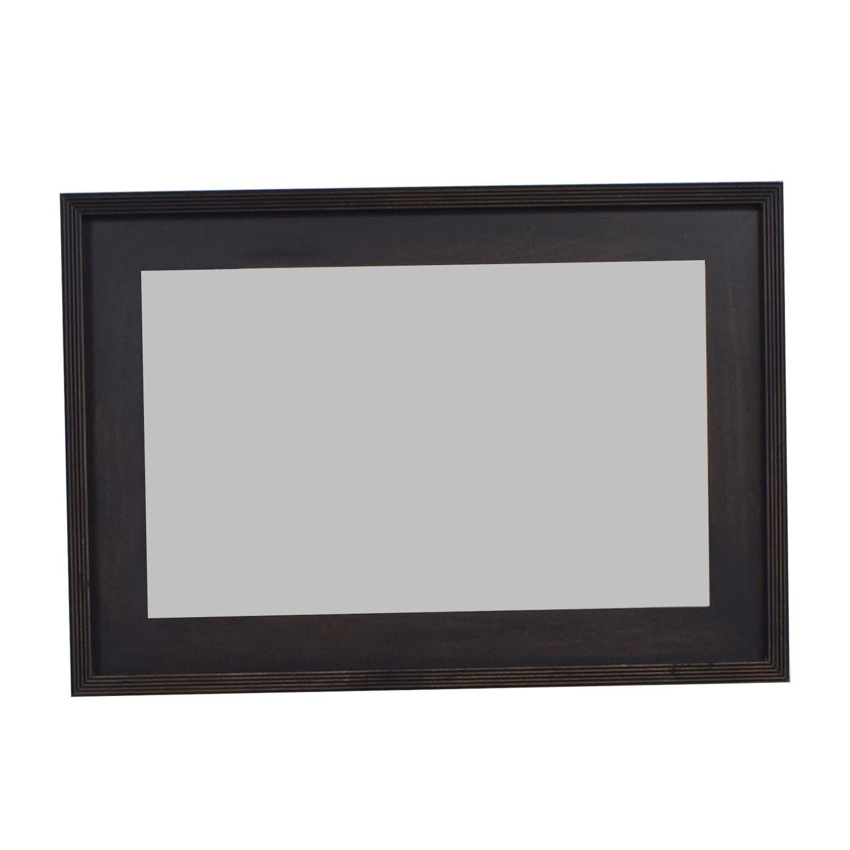 85% OFF - West Elm West Elm Black Framed Mirror / Decor