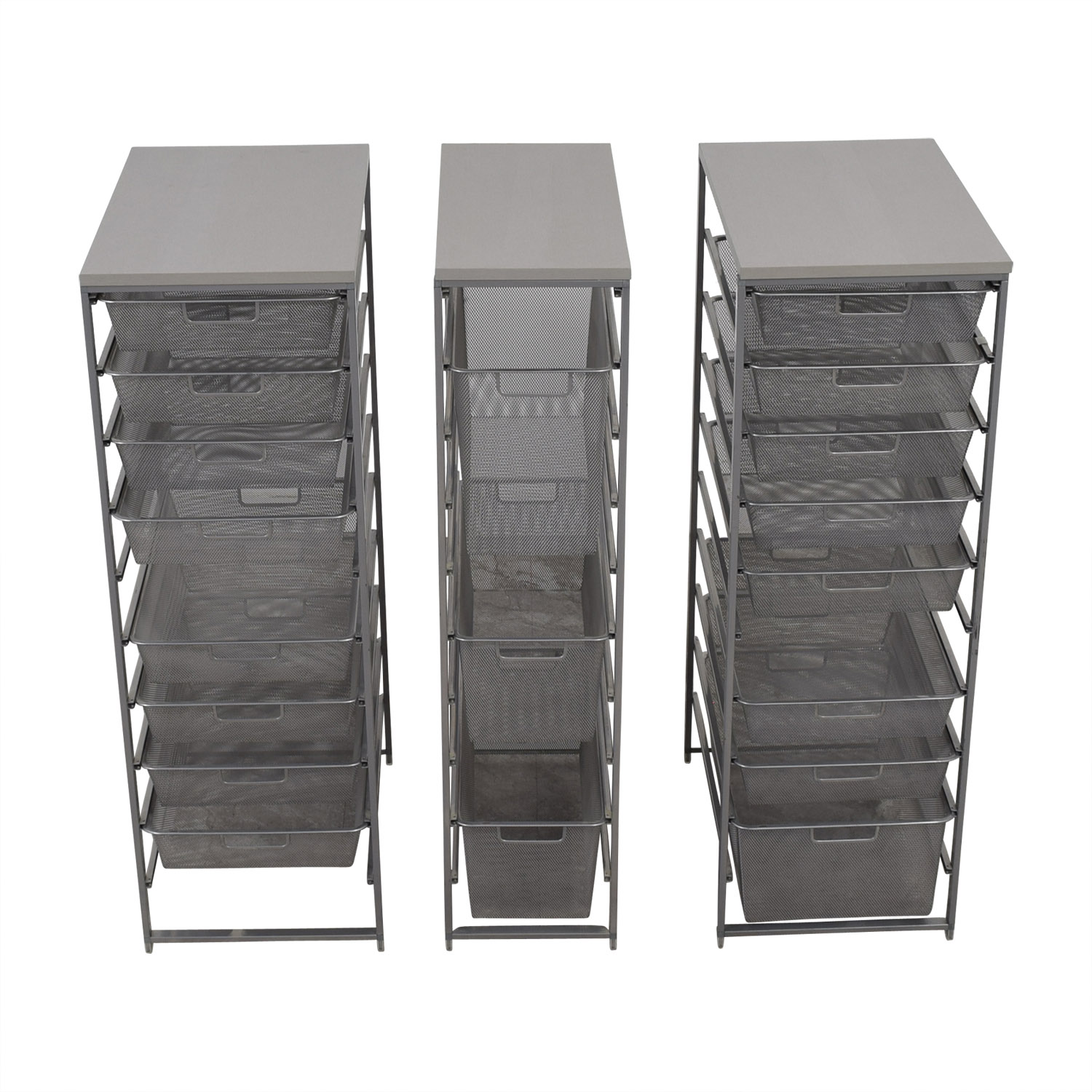 Container Store Container Store Metal Wire Organizational Storage used