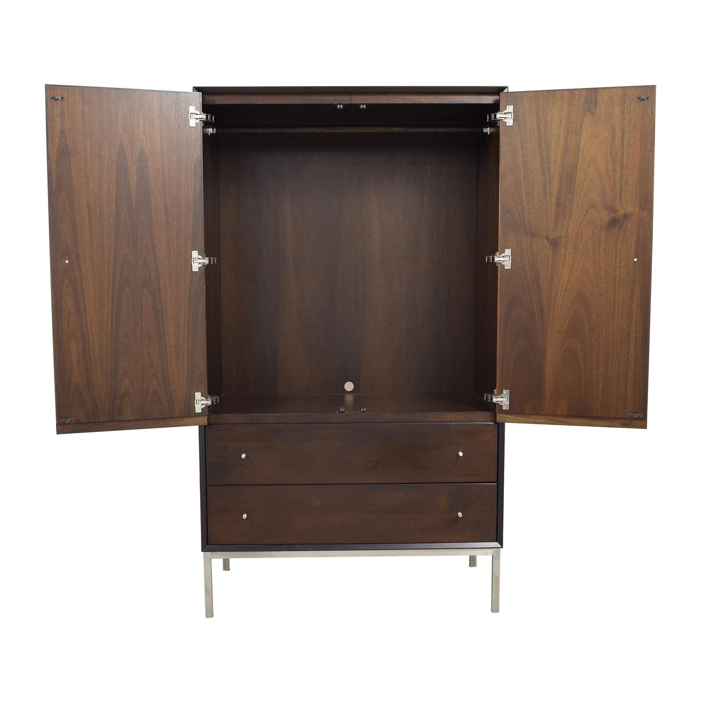 shop Room & Board Delano Mahogany Armoire Room & Board