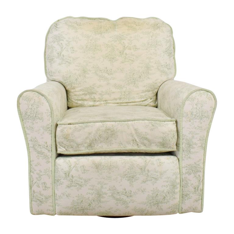 Bellini Baby Bellini Baby Children's Playground White and Green Rocking Chair Recliner nj