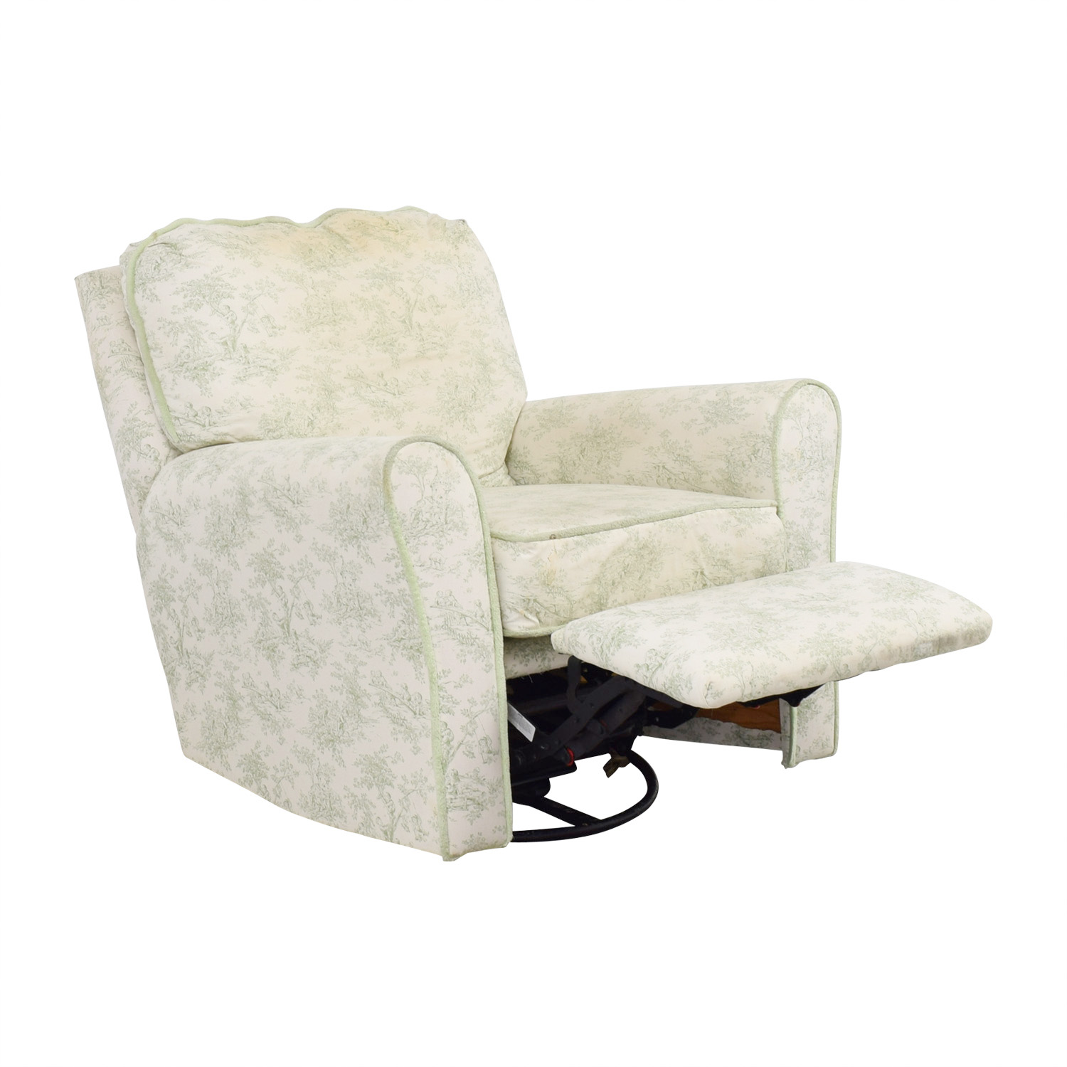 shop Bellini Baby Children's Playground White and Green Rocking Chair Recliner Bellini Baby Accent Chairs