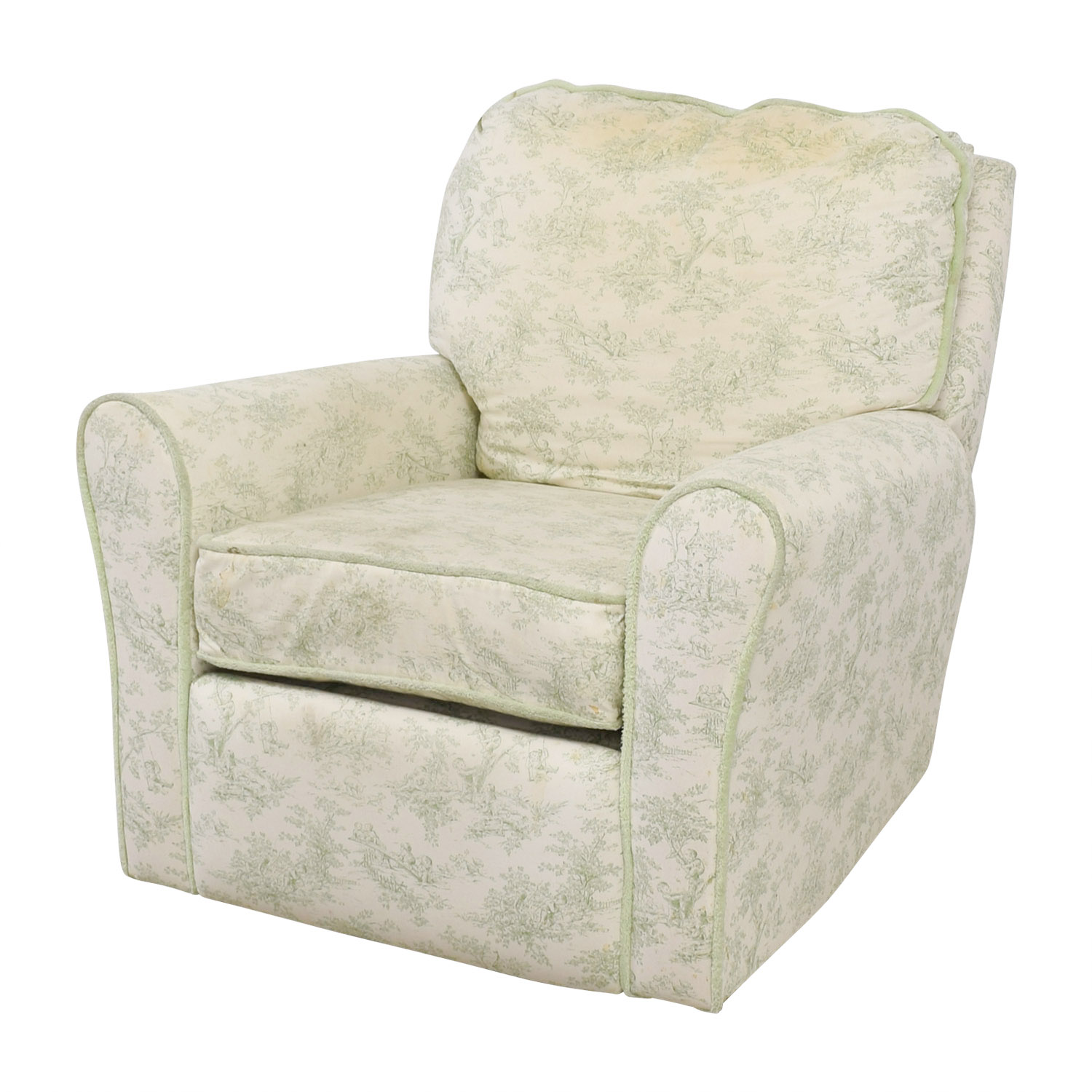 Bellini Baby Bellini Baby Children's Playground White and Green Rocking Chair Recliner nyc